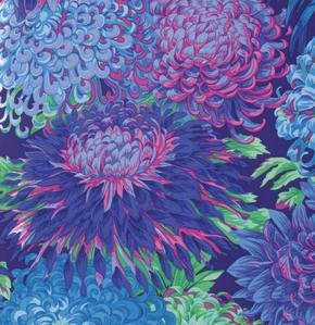 Philip Jacobs Japanese Chrysanthemum in Blue
