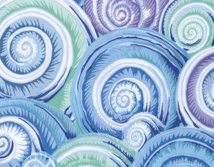 Philip Jacobs: Spiral Shells in Sky Blue
