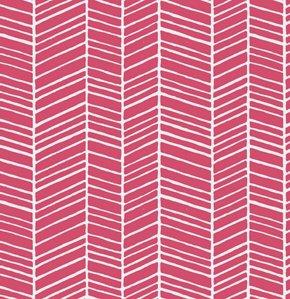 True Colors: Herringbone Stripe in Pink
