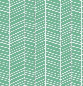 True Colors: Herringbone Stripe in Turquoise