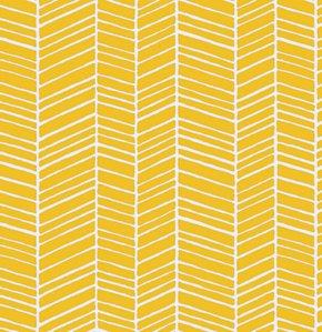 True Colors: Herringbone Stripe in Yellow