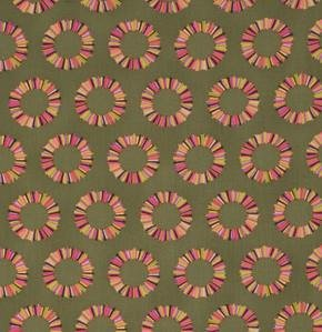 Tula Pink: Acacia Pineapple Slices in Olive