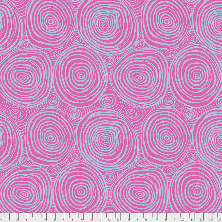 Brandon Mably 108 Backing Fabric: Onion Rings in Pink