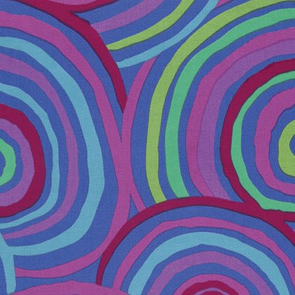 Kaffe Fassett Backing Fabric: Circles in Blue