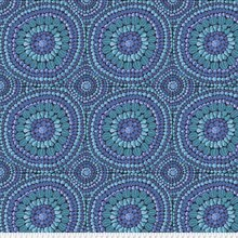 Kaffe Fassett Backing Fabric: Fruit Mandala in Blue