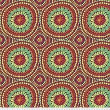 Kaffe Fassett Backing Fabric: Fruit Mandala in Red