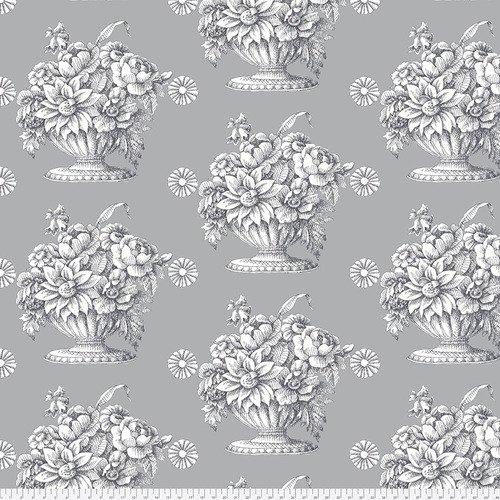 Kaffe Fassett Backing Fabric: Stone Flower in Grey