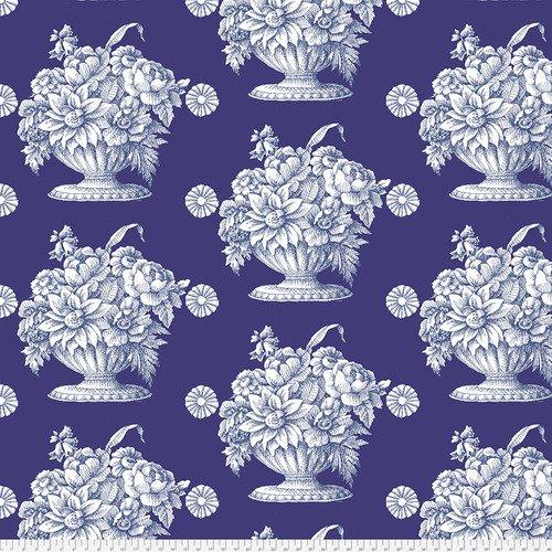 Kaffe Fassett Backing Fabric: Stone Flower in Royal