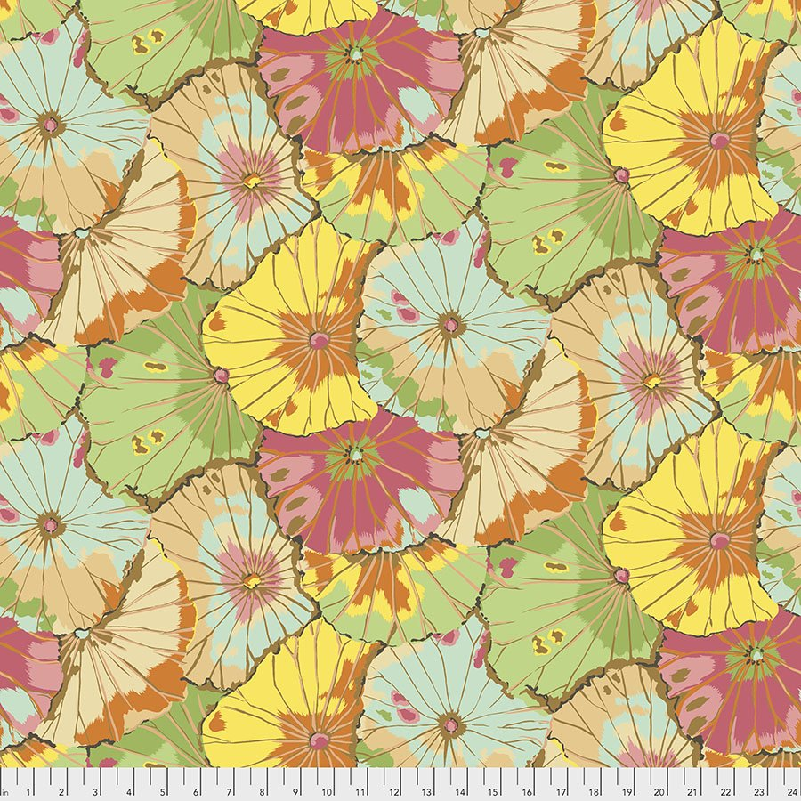 Kaffe Fassett 108 Backing Fabric: Lotus Leaf in Jade