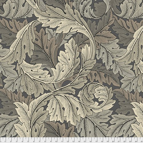 Morris & Co.: Acanthus in Mole - 108 wide Backing fabric