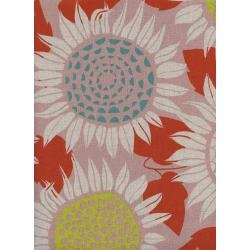Front Yard: Sunflowers in Pink - CANVAS