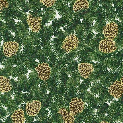 Holiday Flourish: Pine Cones Ivory