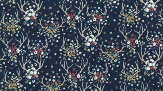 Enchanted: Antlers in Navy