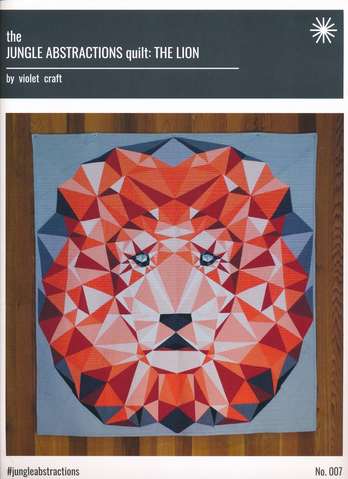 Jungle Abstractions Quilt Pattern: The Lion
