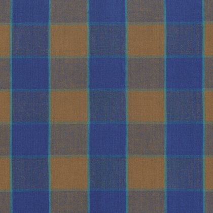 Artisan Collection - Wovens: Checkerboard Plaid Ikat in Blue