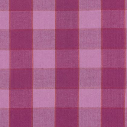Artisan Collection - Wovens: Checkerboard Plaid Ikat in Lipstick