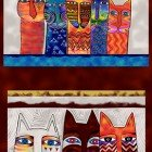 Feline Frolic pillow panel 24 x 42