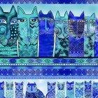 Feline Frolic  Y2797-31M Royal Blue