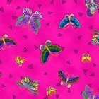 Feline Frolic: Butterflies on Pink