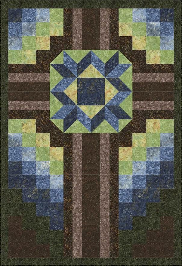 The Old Rugged Cross quilt pattern - downloadable
