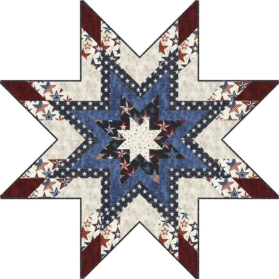 Star Shaped Topper - table topper and tree skirt - downloadable
