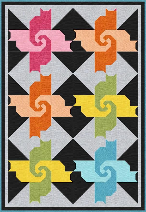 Cats in the Kitchen quilt pattern - downloadable
