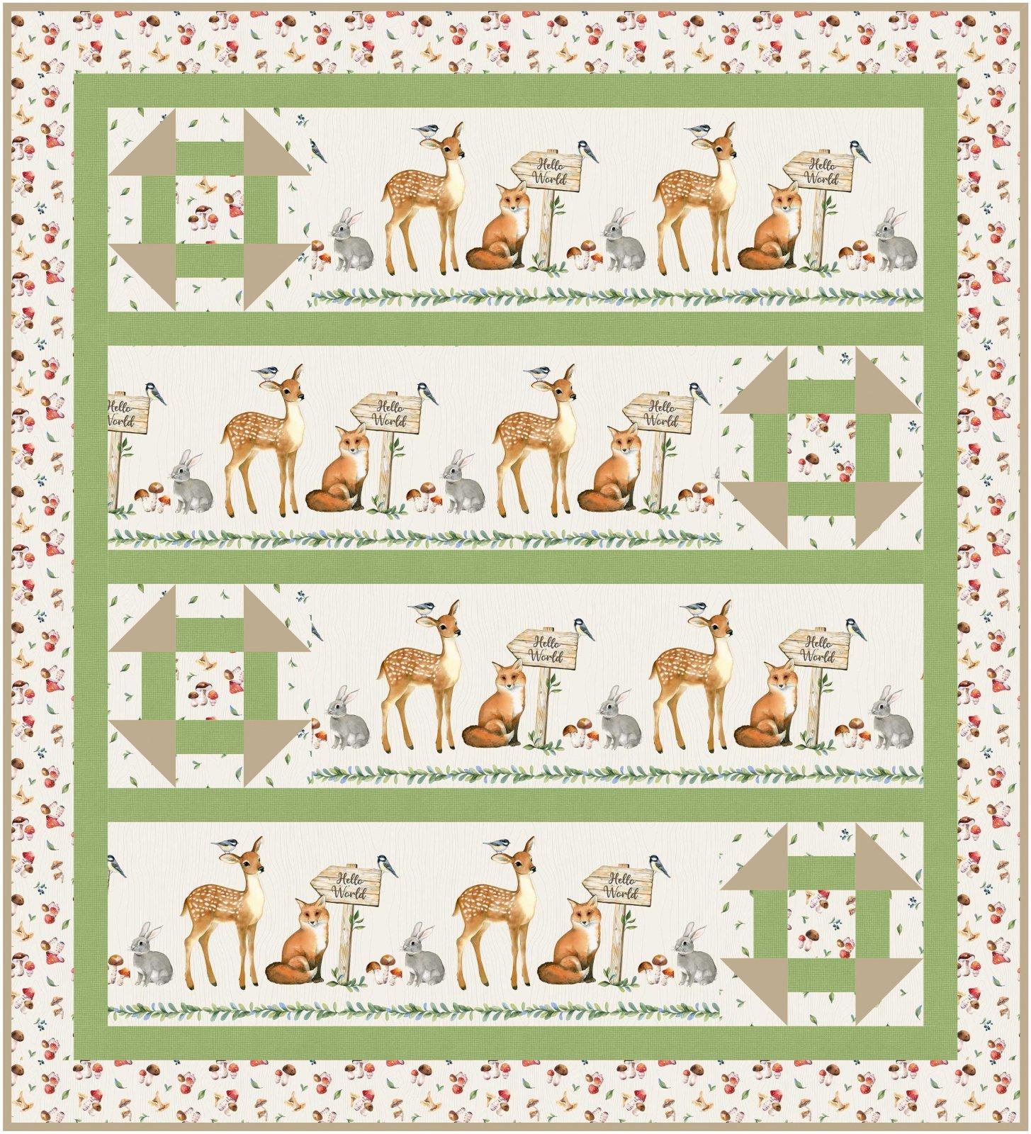 Churn Around - baby quilt pattern - downloadable