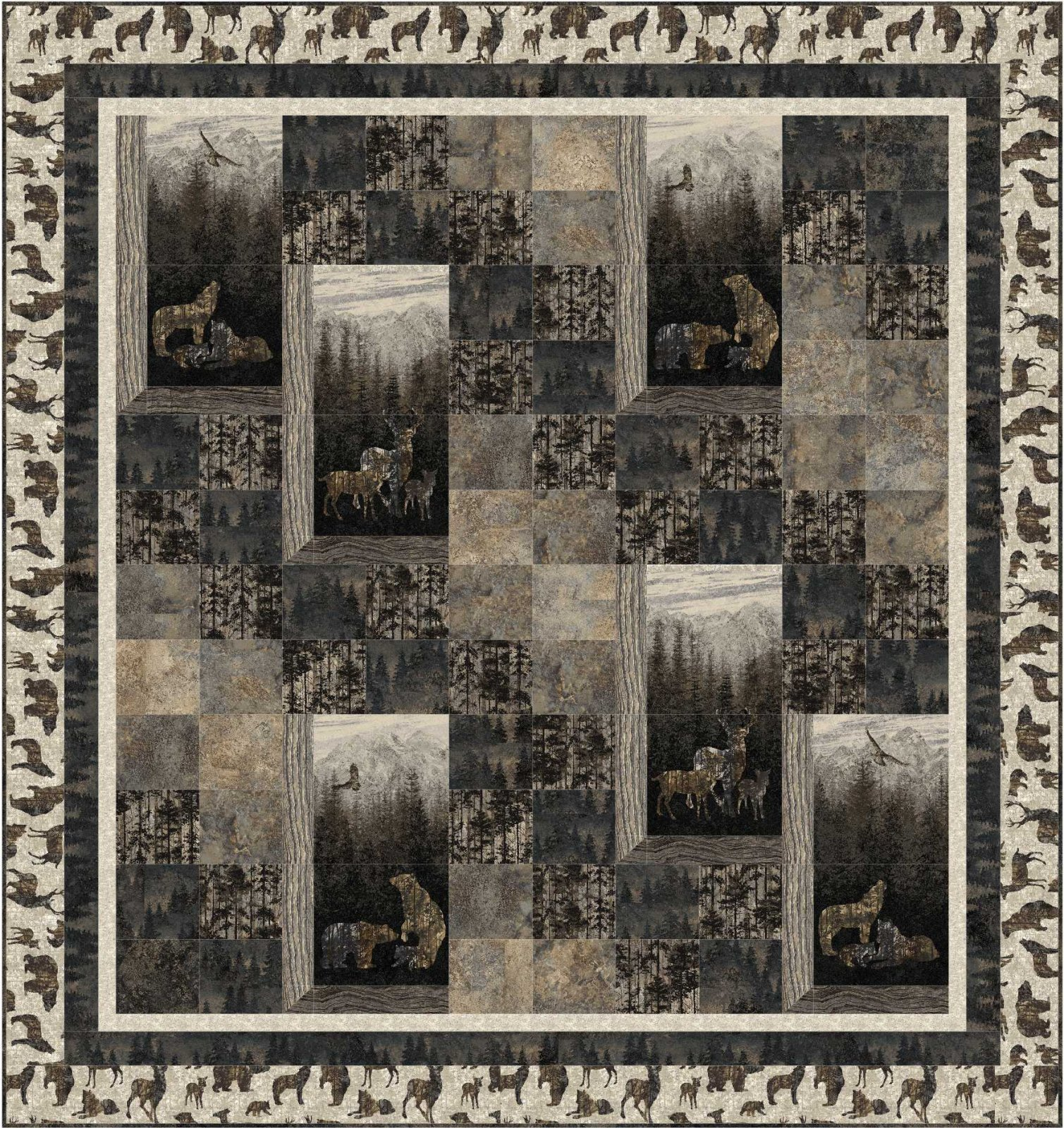 Serene Scenes quilt pattern - downloadable