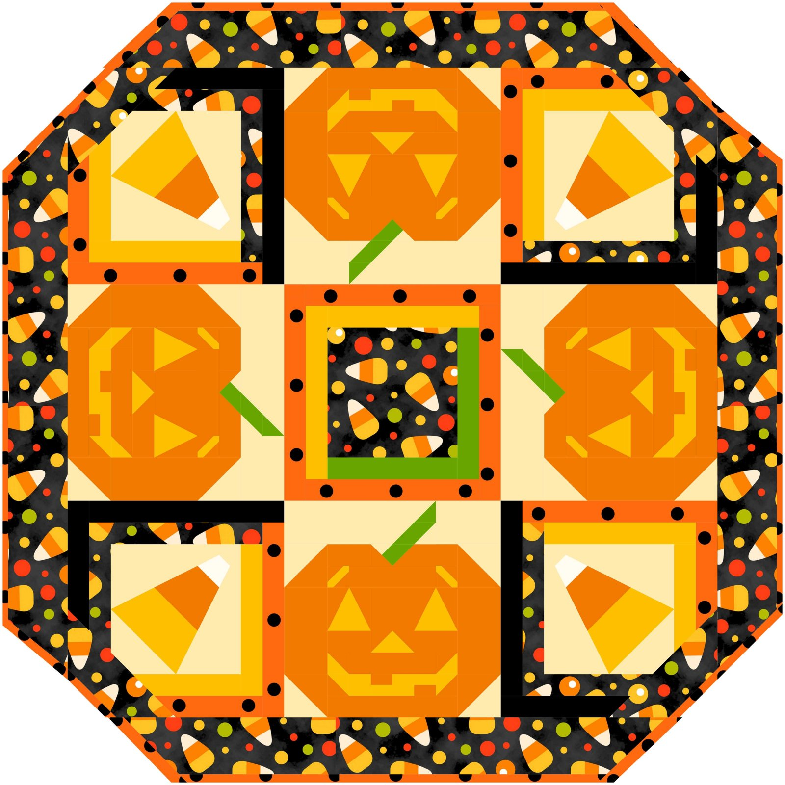 Candied Pumpkin table topper kit