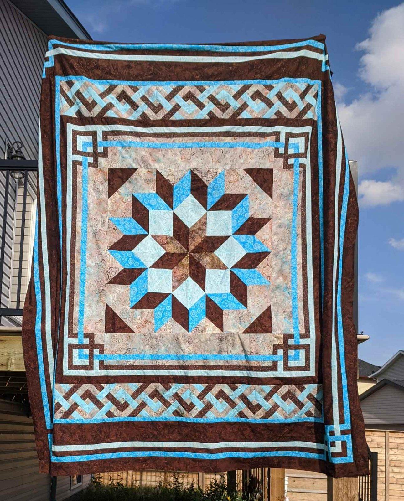2Carpenter's Square quilt kit - queen size - batiks