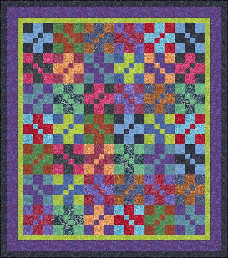 Pebbles quilt pattern - downlaodable