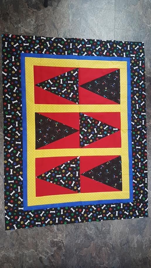 Pennant Race Quilt Pattern Downloadable