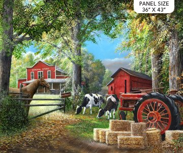 Country Home quilting panel, horizontal