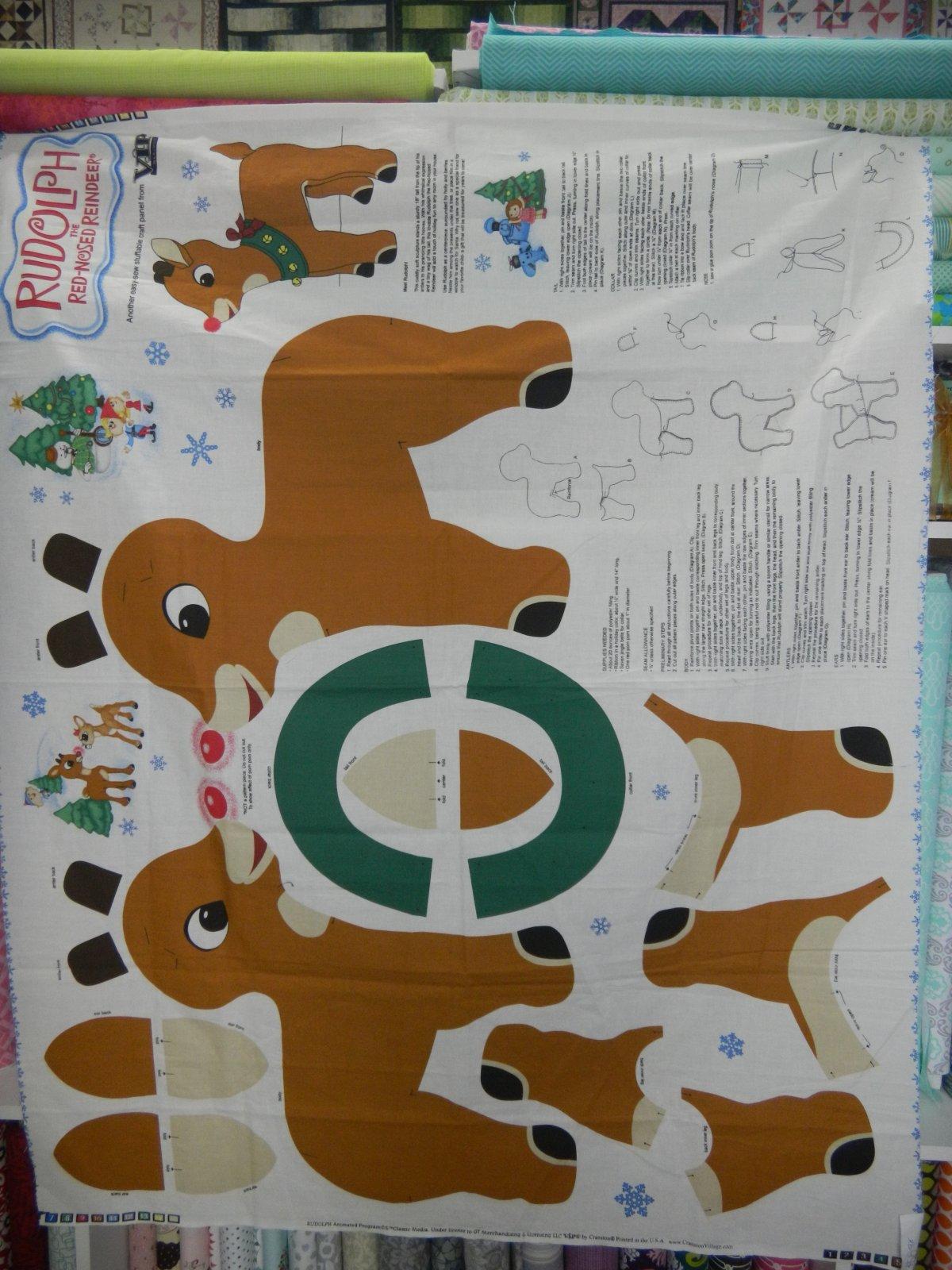 Panel#114 -Rudolph Doll Panel - Christmas