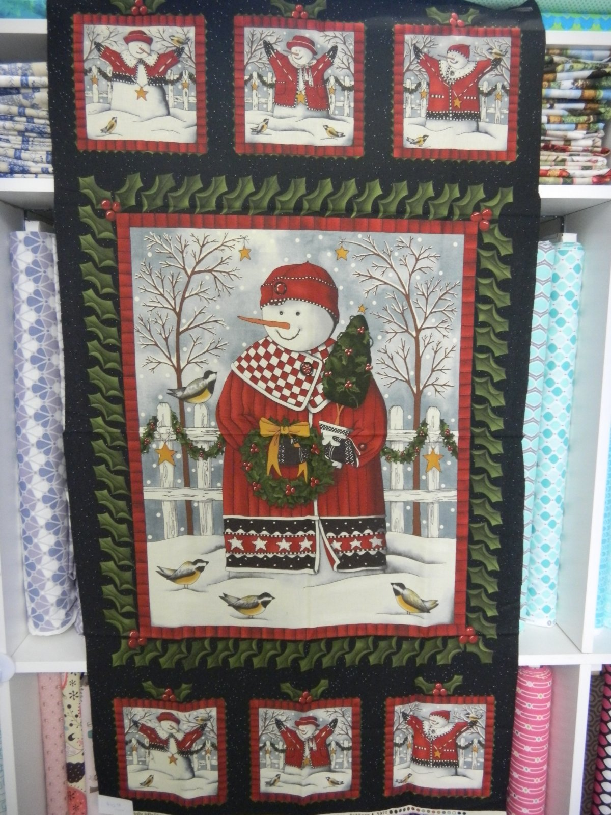 Panel#110 - Holly Jolly Snowmen - Christmas/Winter