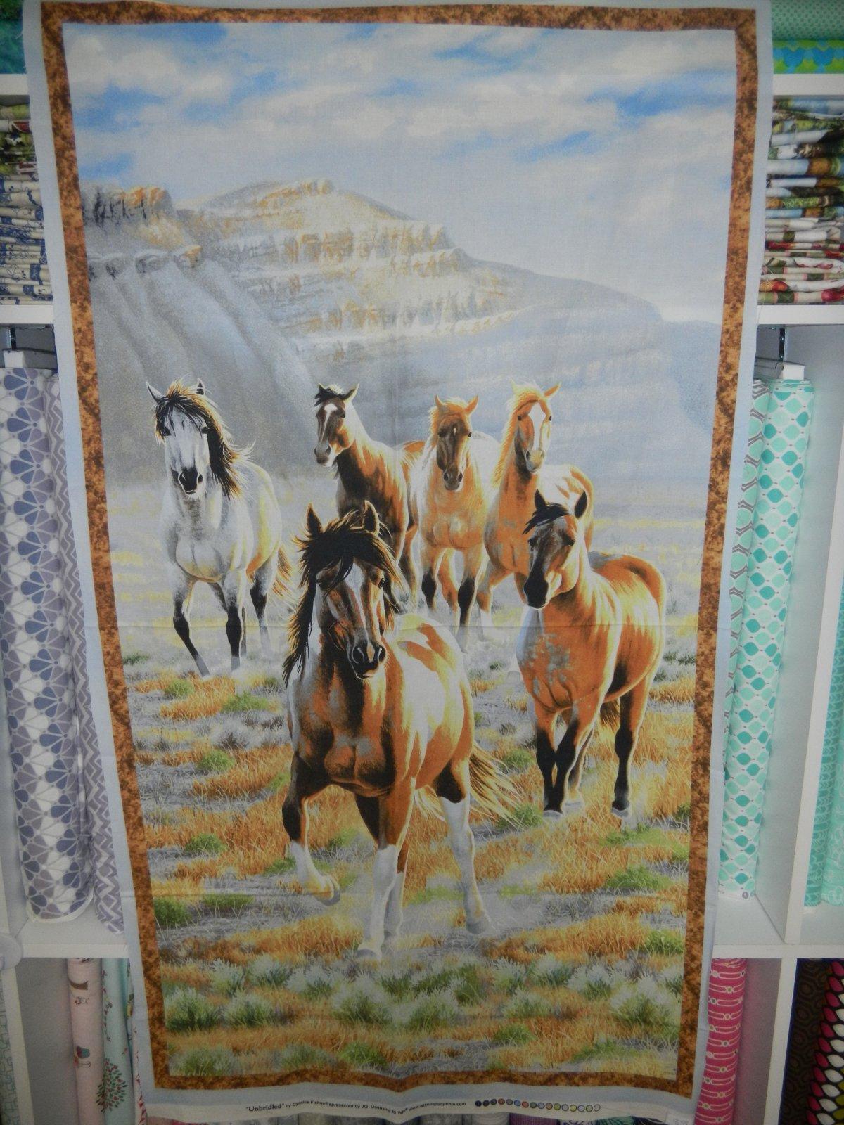 Panel#196 - Unbridled  - Horses