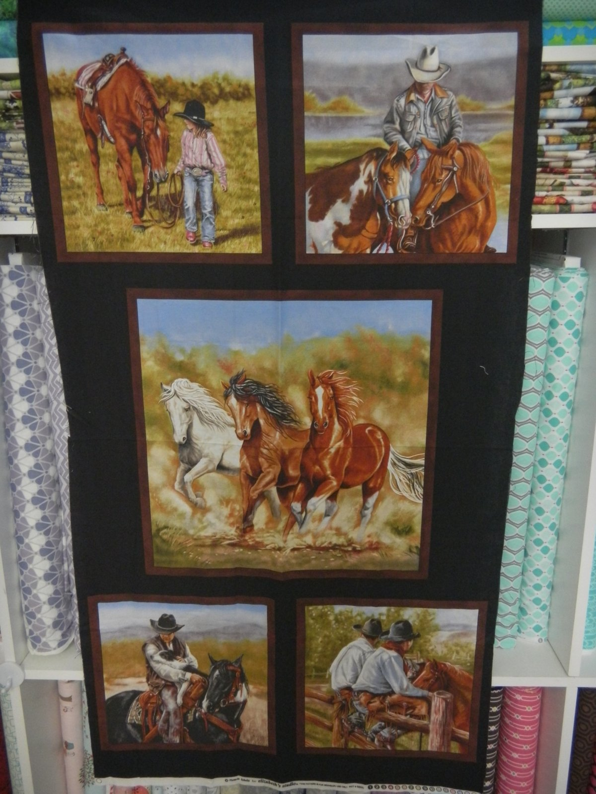 Panel#195 - Horses, Cowboys  - Horses