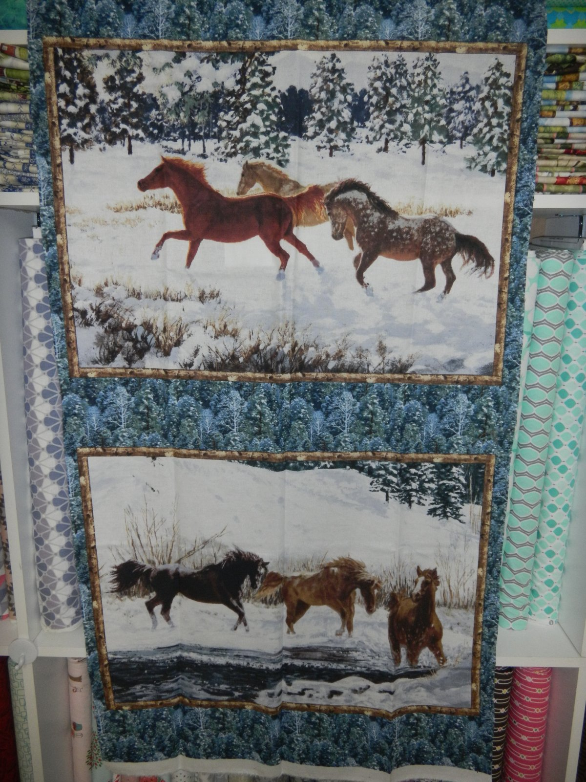 Panel#205 - Winter Enchantment  - Horses/Winter