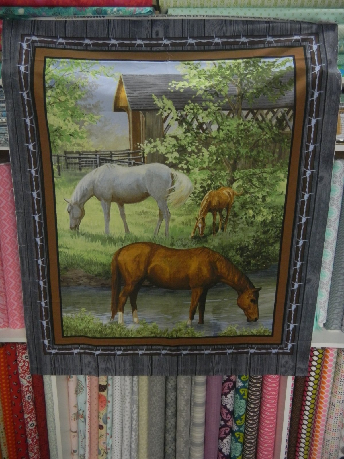Panel#193 - Sweetwater Bridge  - Horses