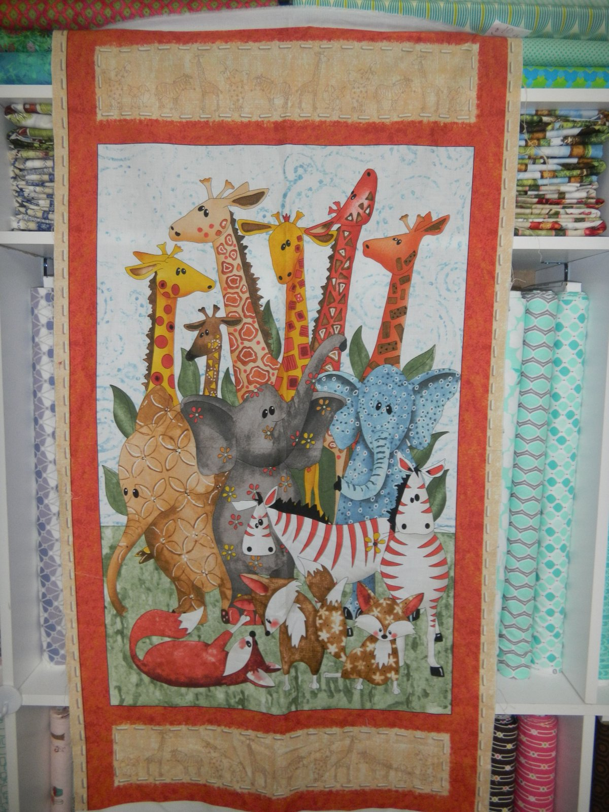 Panel#9 - Cotton - Animals 2 by 2 - Baby