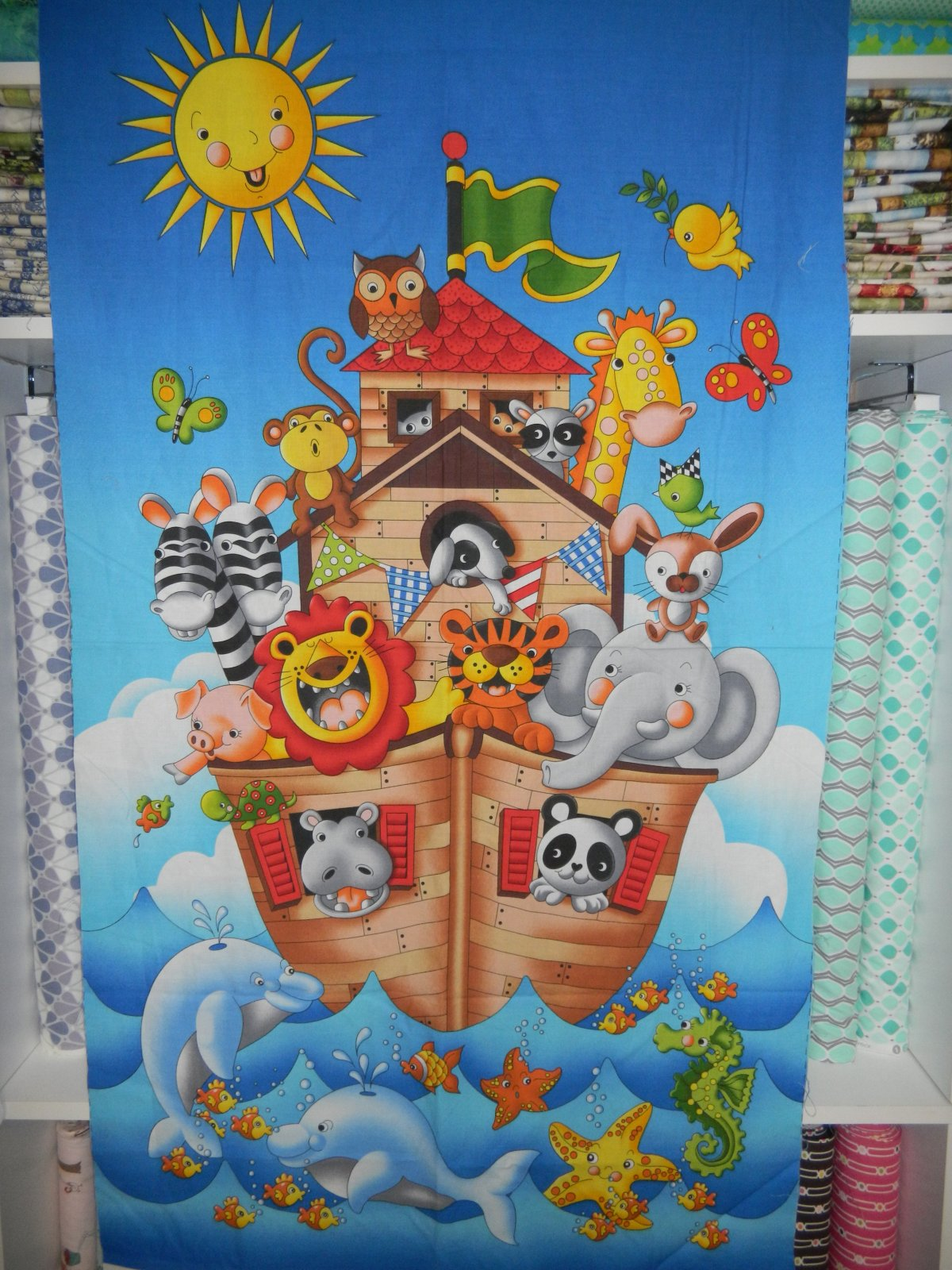 Panel#11 - Cotton - Noah's Ark - baby