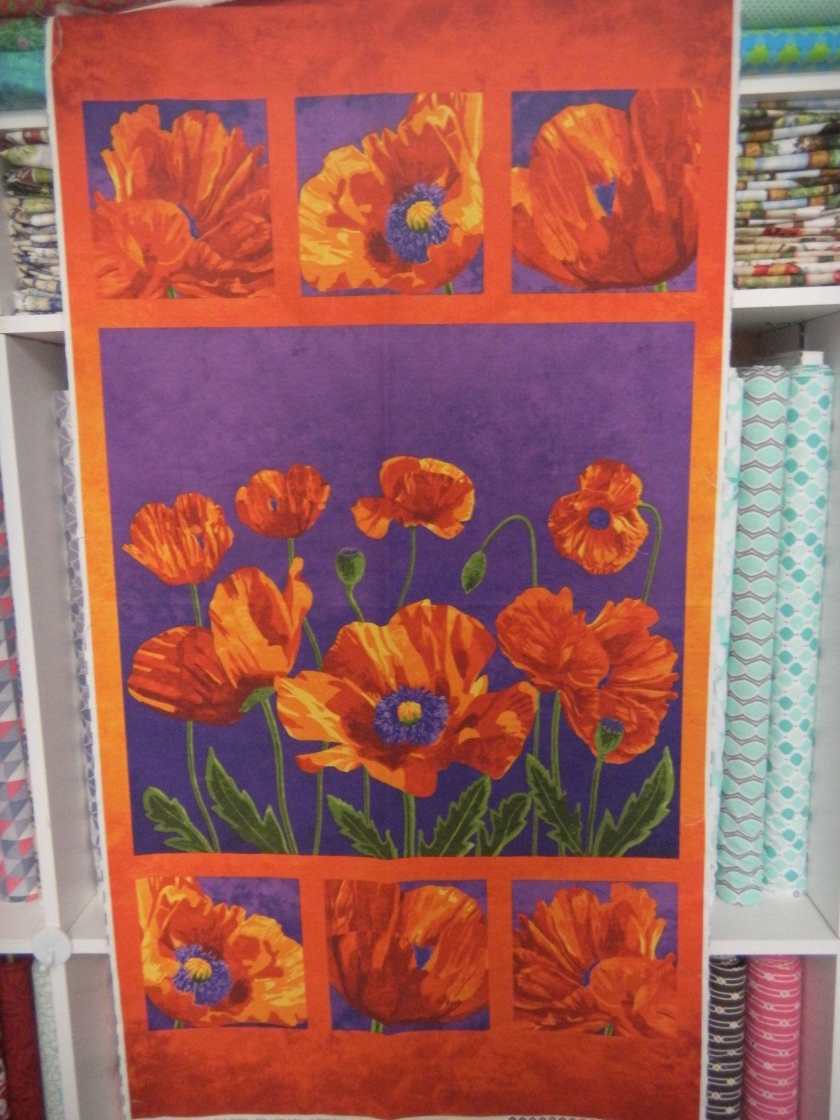 Panel#155 - Poppy Passion - Floral