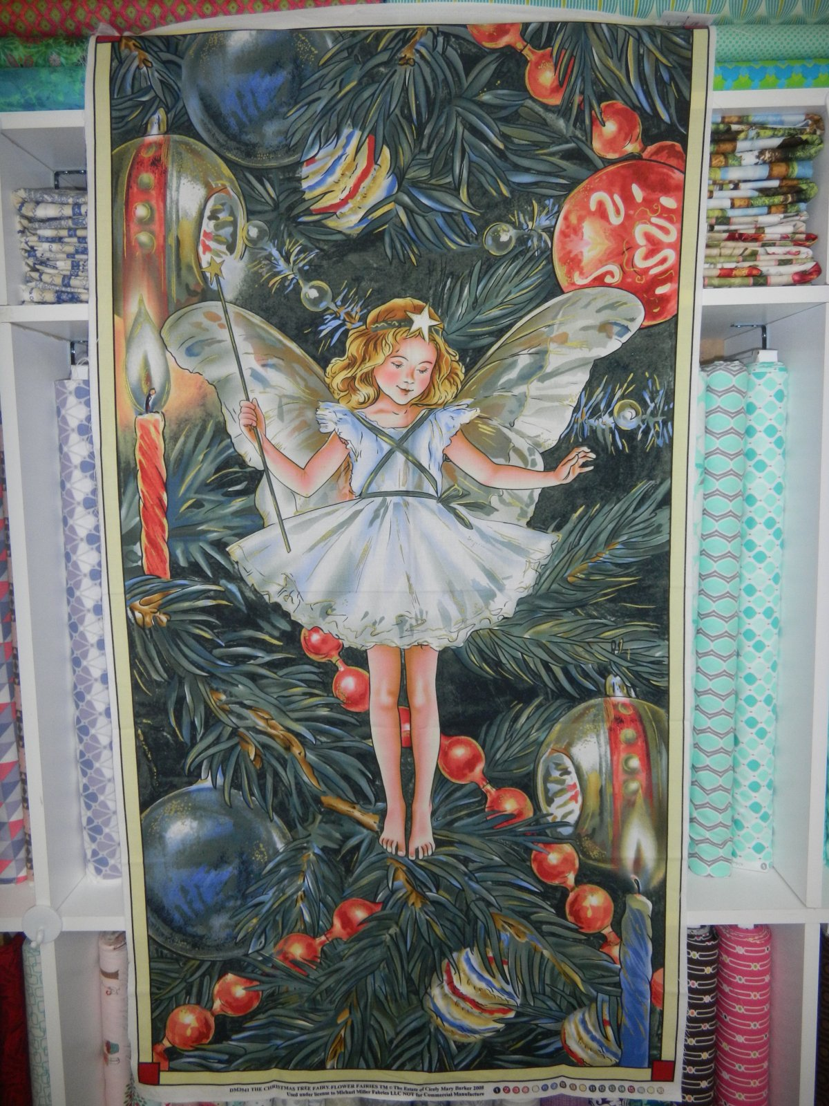 Panel#145 - Christmas Tree Fairy - Floral/Fairy/Christmas