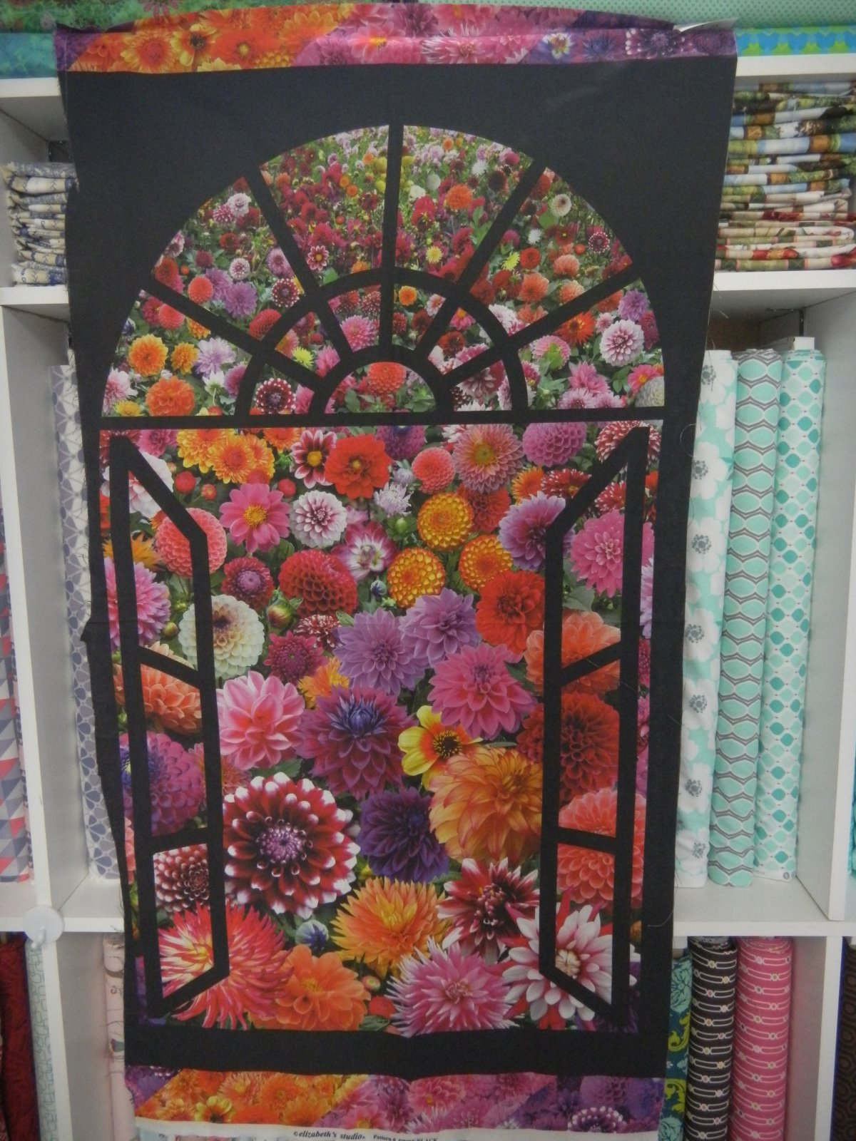 Panel#150 - Flowers out the window - Floral