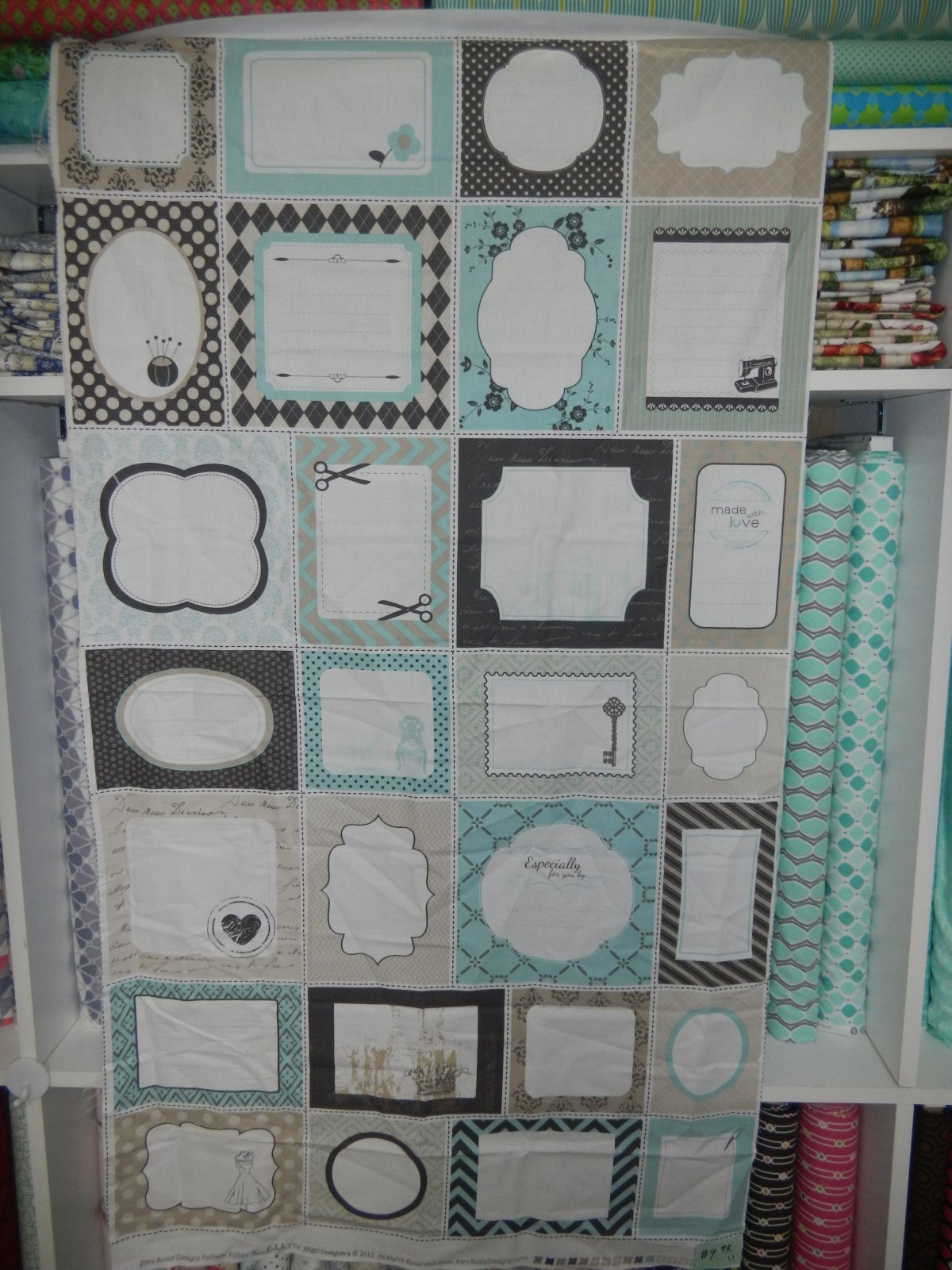 Panel#122 - Panel of Quilt Labels