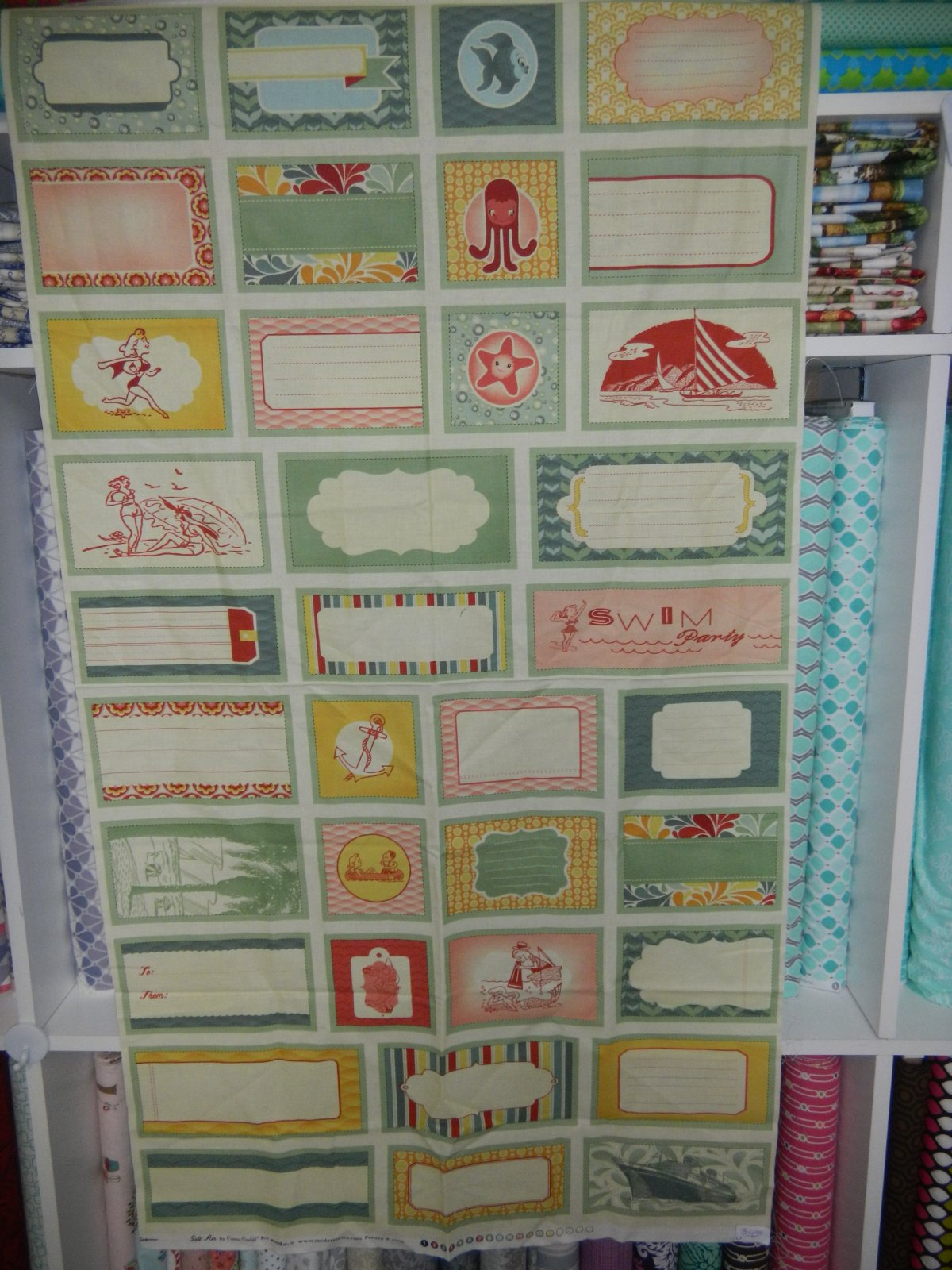 Panel#123 - Panel of Quilt Labels