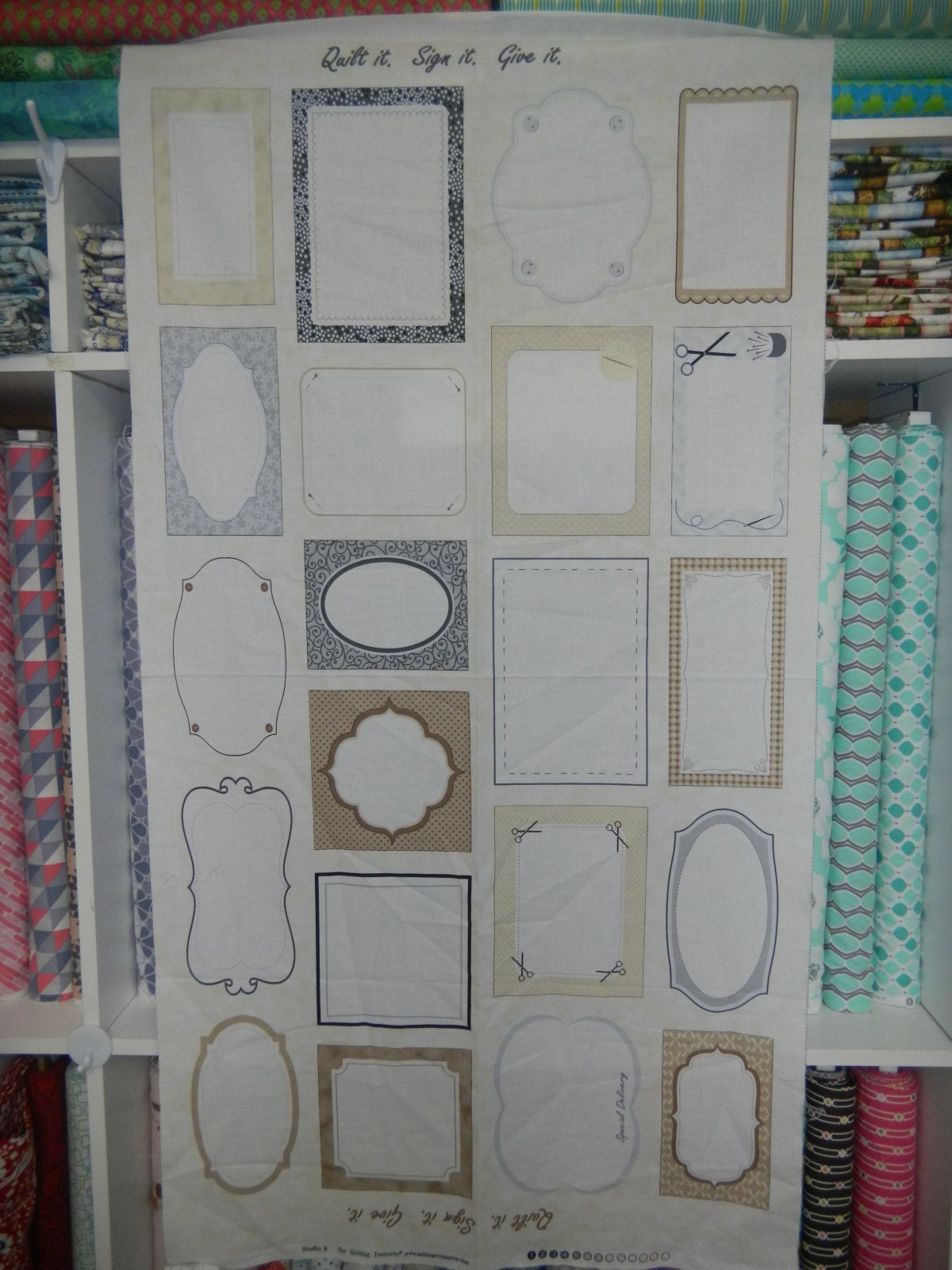 Panel#124 - Panel of Quilt Labels