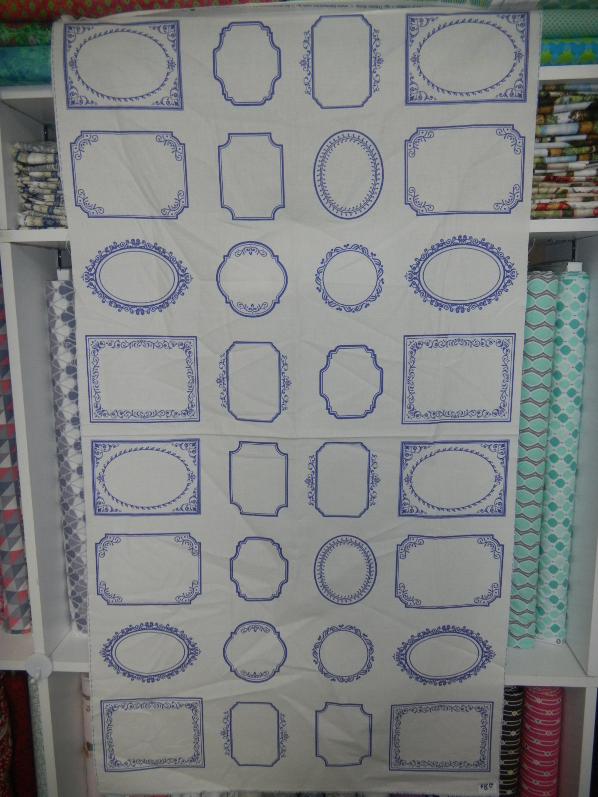 Panel#121 - Panel of Quilt Labels