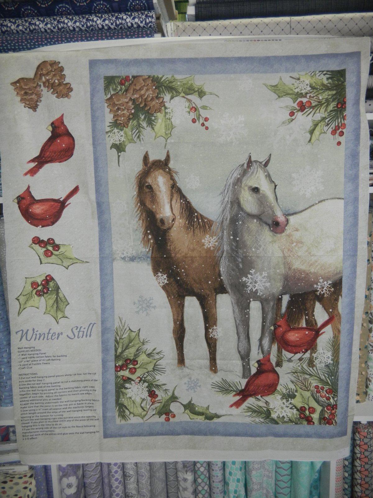 Panel#203 - Winter Still  - Horses/Winter/Christmas