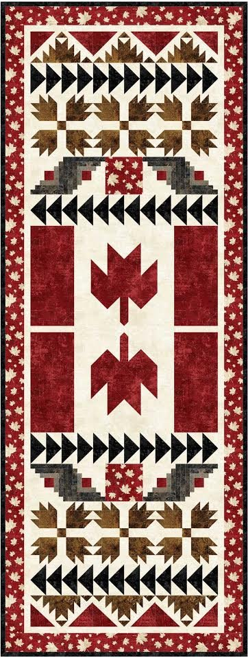 Canada Proud - large table runner pattern